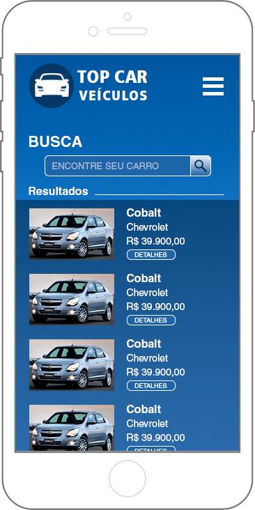 Estudo para APP - E-commerce de veículos