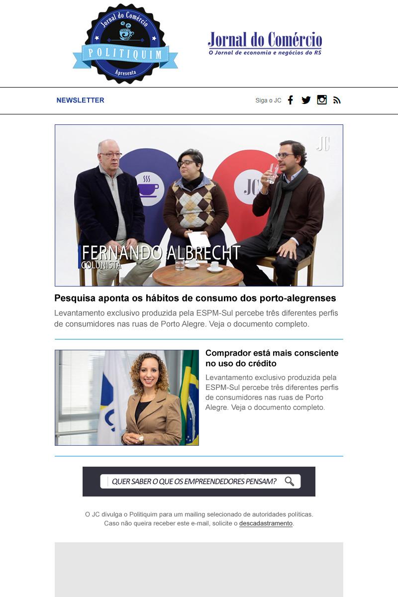 Newsletter Politiquim 1 - Jornal do Comércio